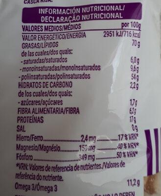 Nuez natural - Información nutricional - es