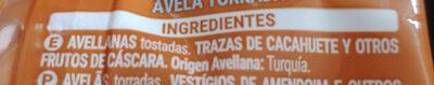 Avellana Tostada 0% Sal Añadida - Ingredientes - es