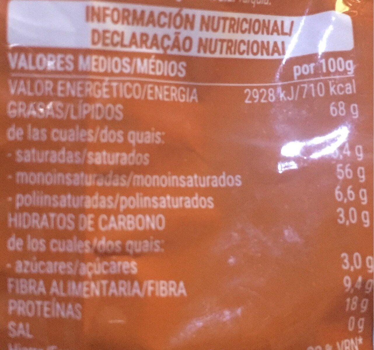 Avellana Tostada 0% Sal Añadida - Información nutricional - es