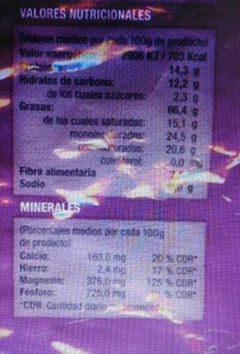 Nuez Coquitos Del Amazonas - Nutrition facts - es