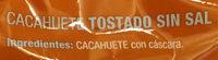 Cacahuete tostado 0% sal añadida - Ingredienti - es