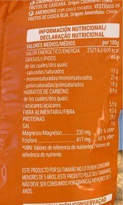 Cacahuete Tostado - Informations nutritionnelles - es