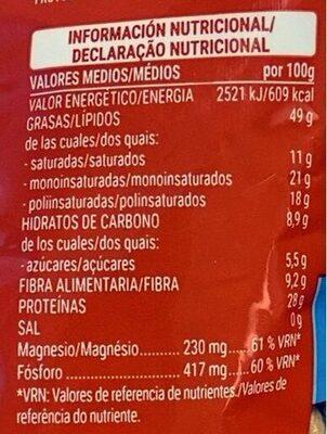 Cacahuete tostado 0% sal añadida - Valori nutrizionali - es