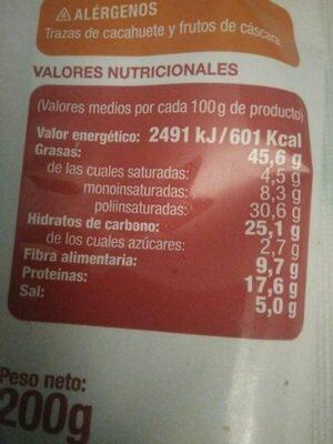Pipas de girasol BBQ - Nutrition facts - en