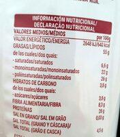 Pipas de girasol BBQ - Valori nutrizionali - es