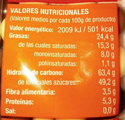 bolas de cereal - Informació nutricional