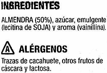 Almendras garrapiñadas - Ingredients - es