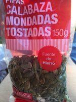 Pipas Calabaza Mondadas Tostadas - Producto