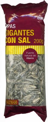 Semillas de girasol con cáscara tostadas con sal Gigantes - Producto