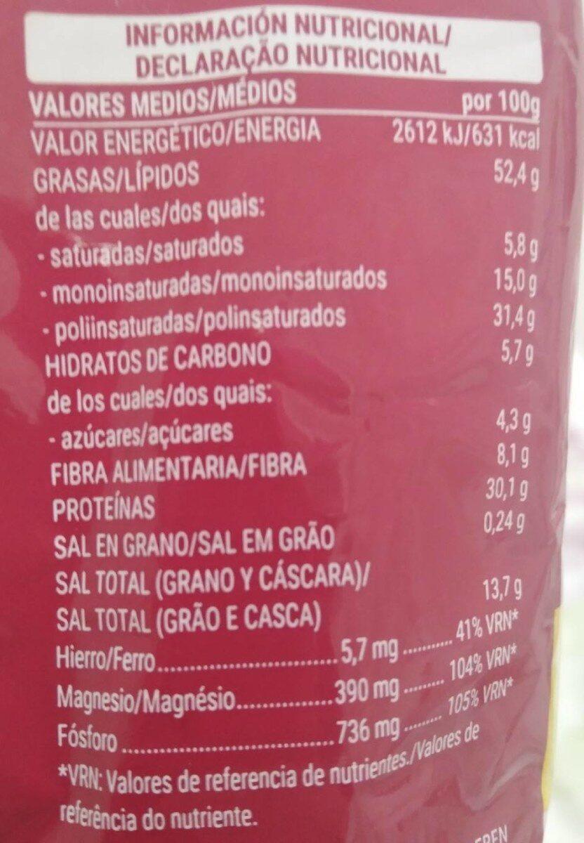 Pipas GIGANTES CON SAL - Nutrition facts - es