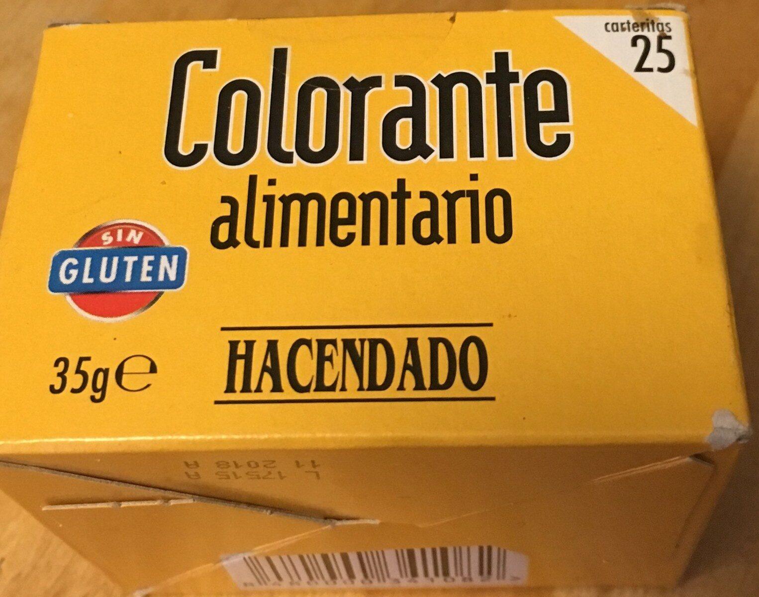 Colorante alimentario - Produit - es