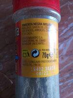 Pimienta Negra - Ingrédients
