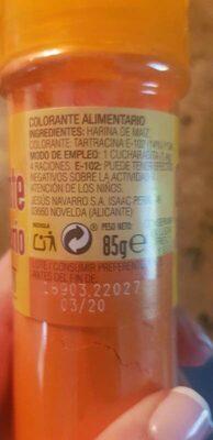 Hacendado Colorante Alimenticio - Product