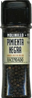 Pimienta negra en grano molinillo - Producto