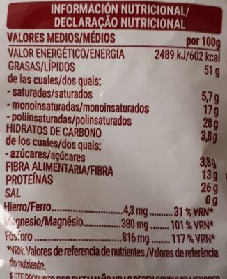 Pipas girasol naturales - Informations nutritionnelles - es