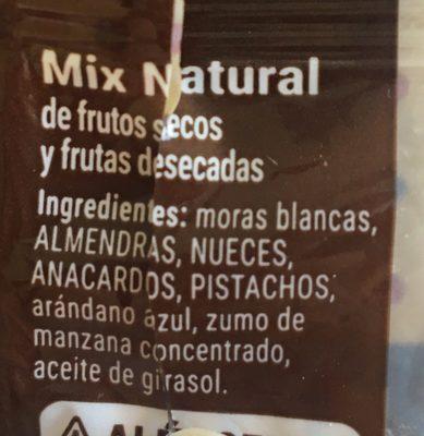 Mix Natural - Ingrediënten