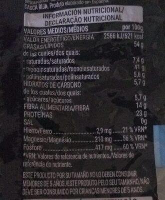 Cocktail tostado 0% sal añadida - Informació nutricional - es