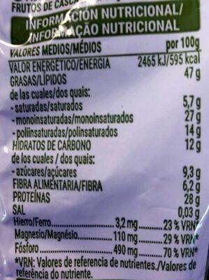 Pistacho natural - Nutrition facts - es