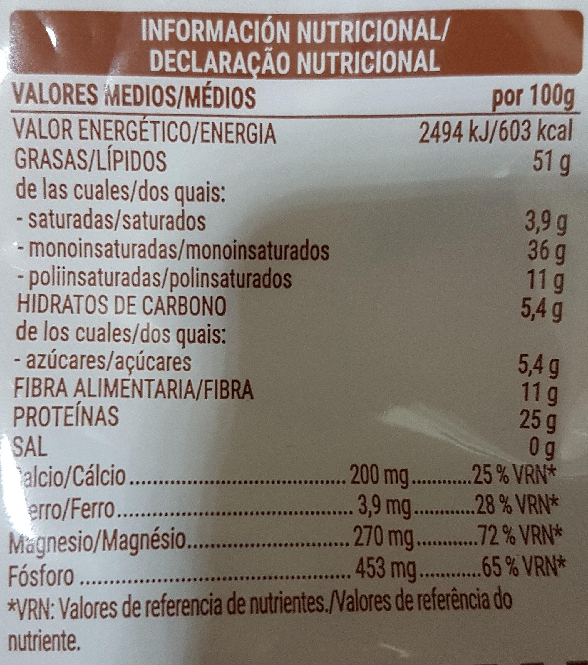 Almendra natural - Informations nutritionnelles - es