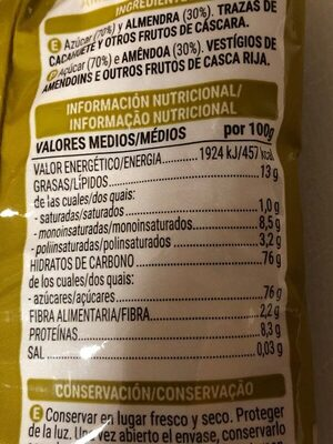 Almendra crocanti - Nutrition facts