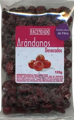 Arándanos rojos desecados - Producto
