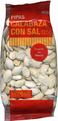 Semillas de calabaza con cáscara tostadas con sal - Producto