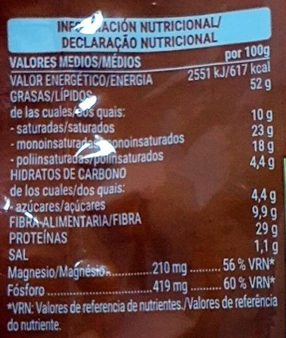 Cacahuete frito - Información nutricional - es