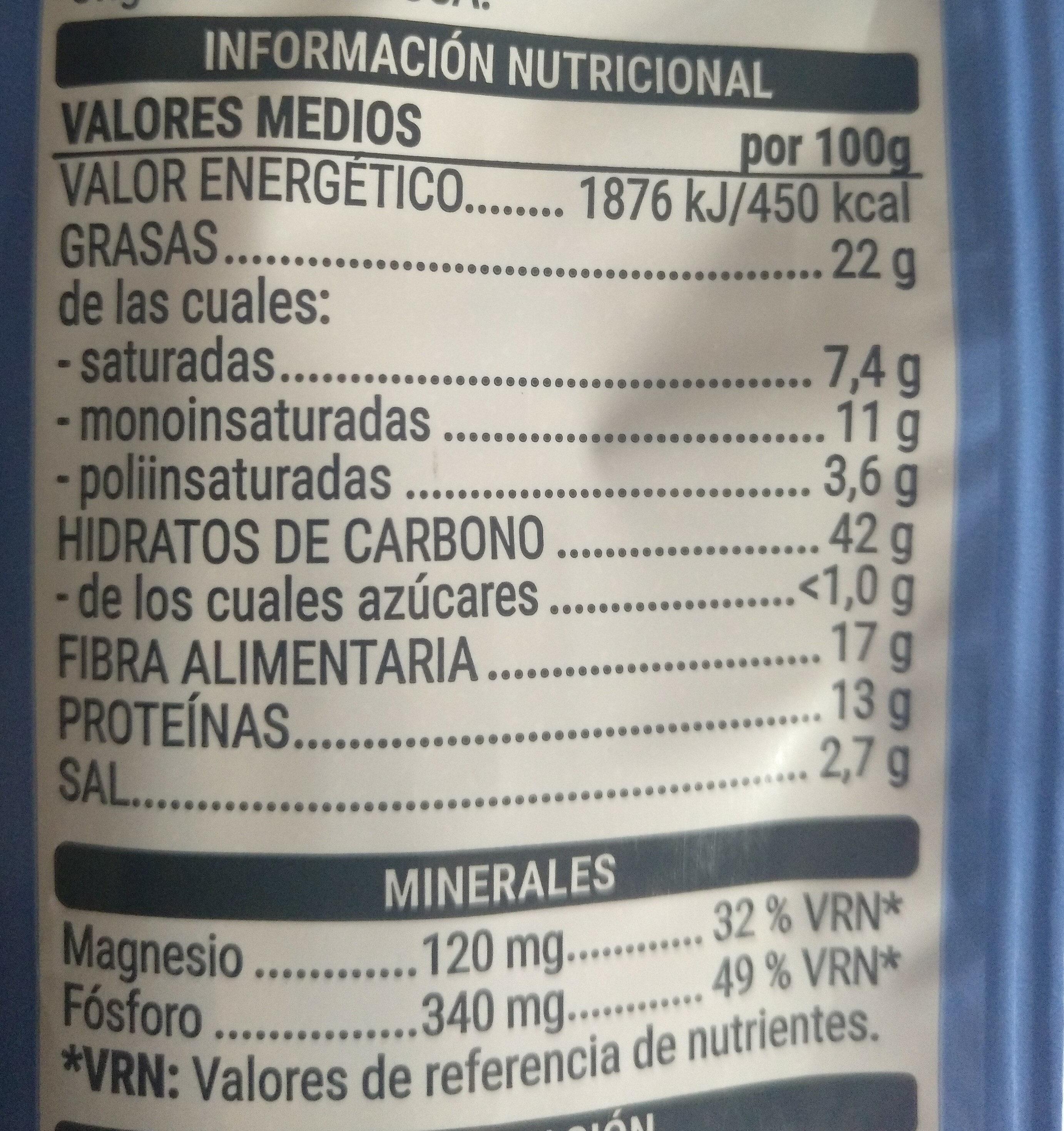 Palomitas Microondas - Información nutricional
