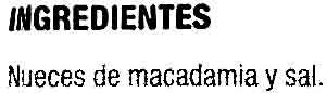 Nuez de macadamia - Ingredientes - es