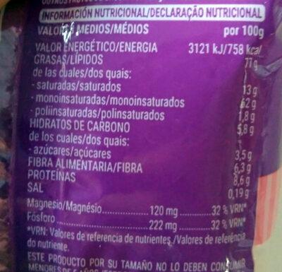 Nuez de macadamia tostada con sal - Nutrition facts - es
