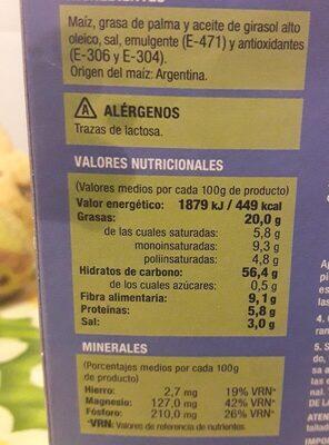 Palomitas microondas hacendado - Información nutricional - es