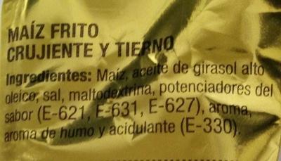 Maíz frito - Ingredients - es