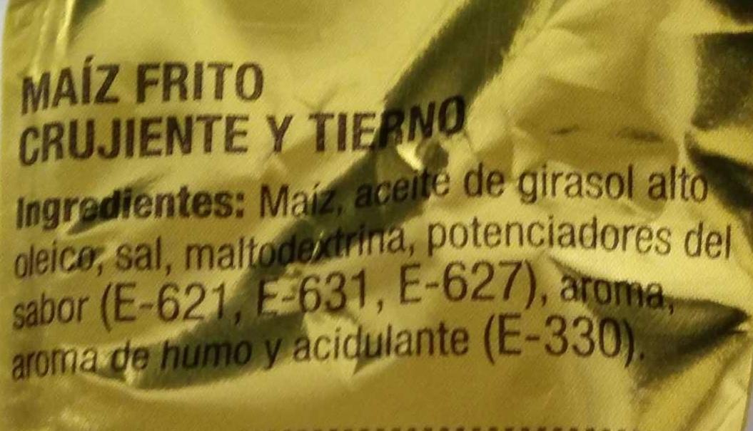 Maíz frito - Ingrediënten - es