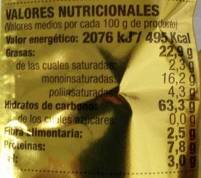 Maíz frito - Voedingswaarden - es
