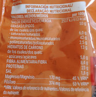 Cacahuete frito - Informació nutricional - es