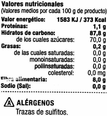 Dátiles sin hueso - Nutrition facts - es