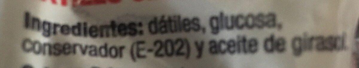 Dátiles - Ingrédients - es