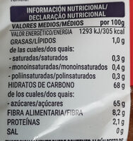Dátiles sin hueso - Informations nutritionnelles - es