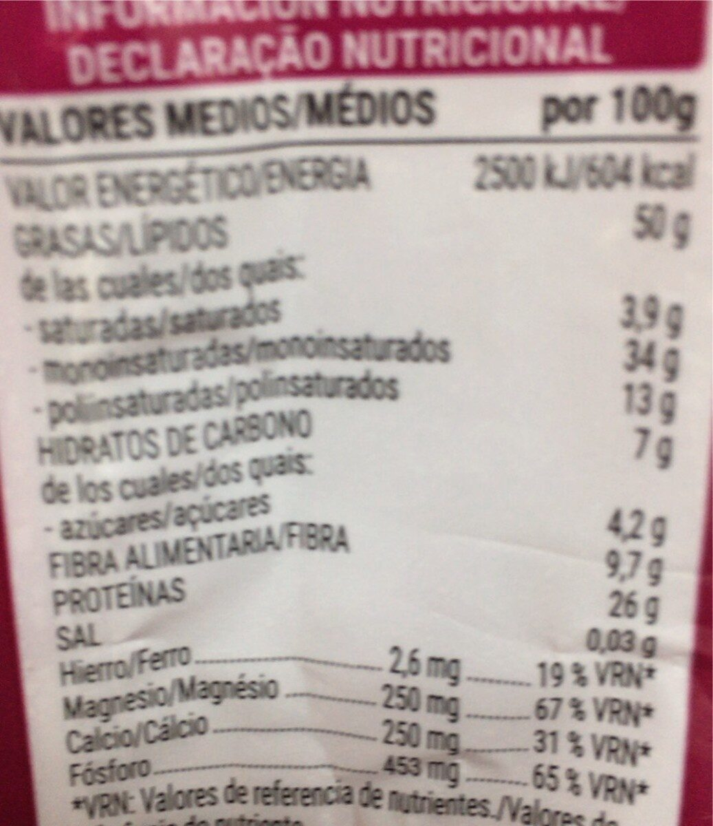 Almendra Molida - Nutrition facts - es
