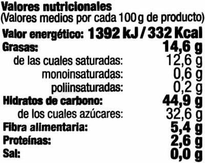 Fruta surtida deshidratada - Informació nutricional