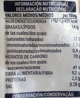 Cocktail de fruta deshidratada - Voedingswaarden - es