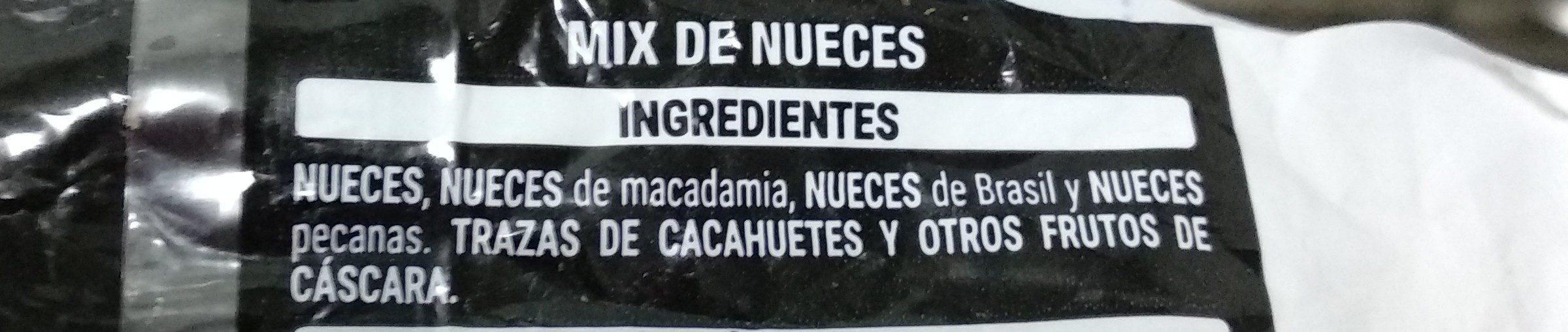 Mix Nueces Naturales - Ingrediënten