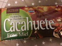 Turrón de chocolate con cacahuete frito miel - Producto