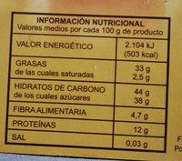 Turrón duro - Informations nutritionnelles - fr