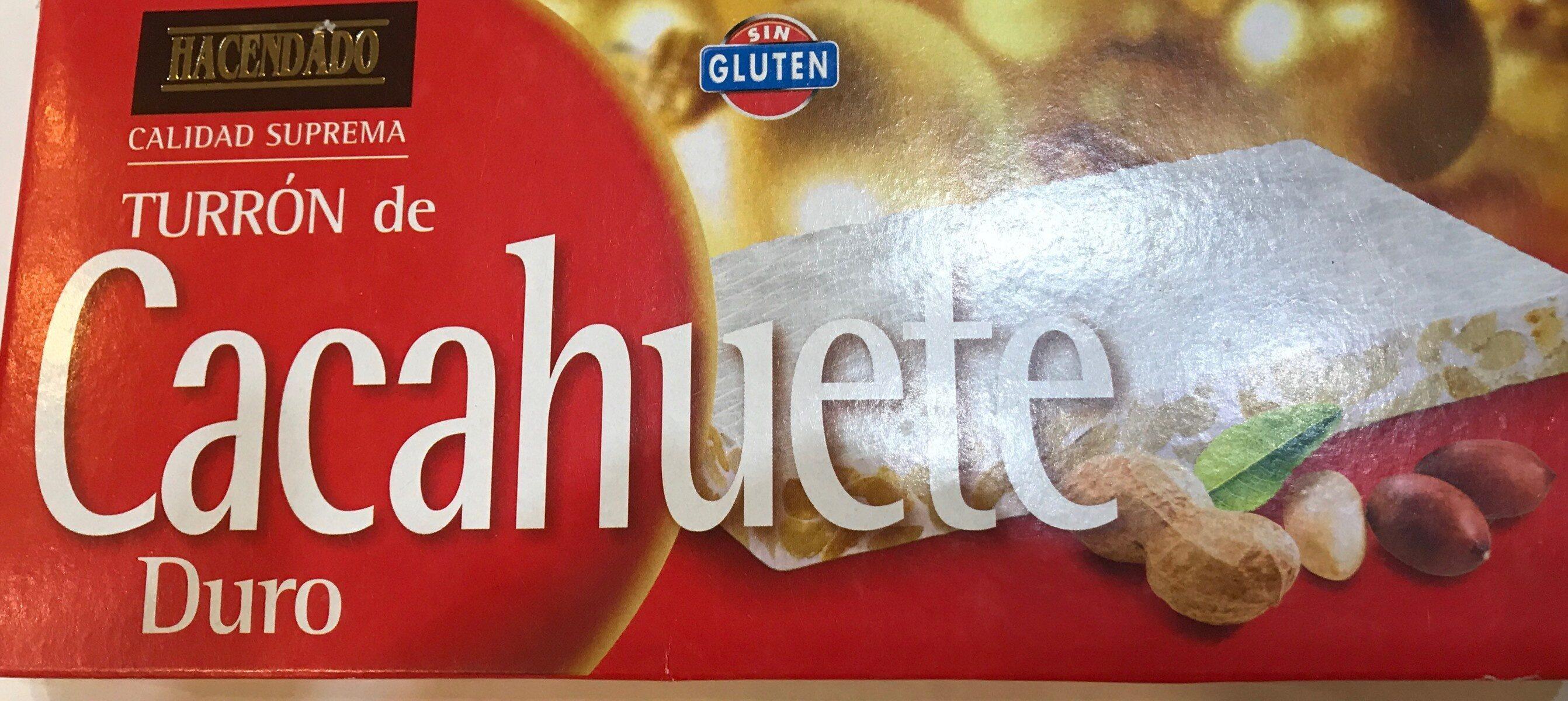 Turrón de cacahuete duro - Produit
