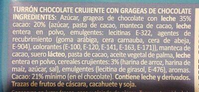 Chocodiskitos - Inhaltsstoffe
