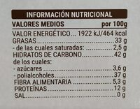 Turrón imperial almendras 0% - Información nutricional - es