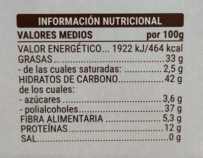 Turrón imperial almendras - Nutrition facts