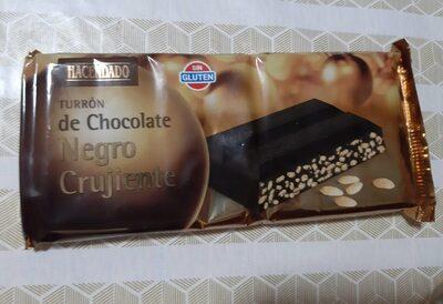 Turron de chocolate negro crujiente - Prodotto - es