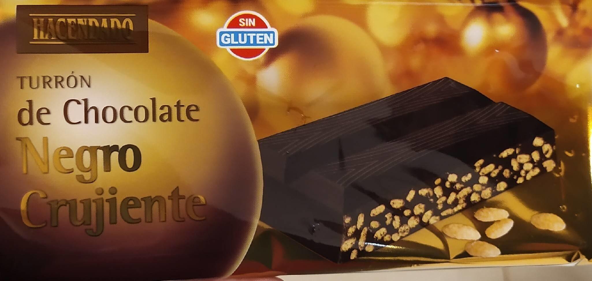 Turrón de chocolate negro crujiente - Product